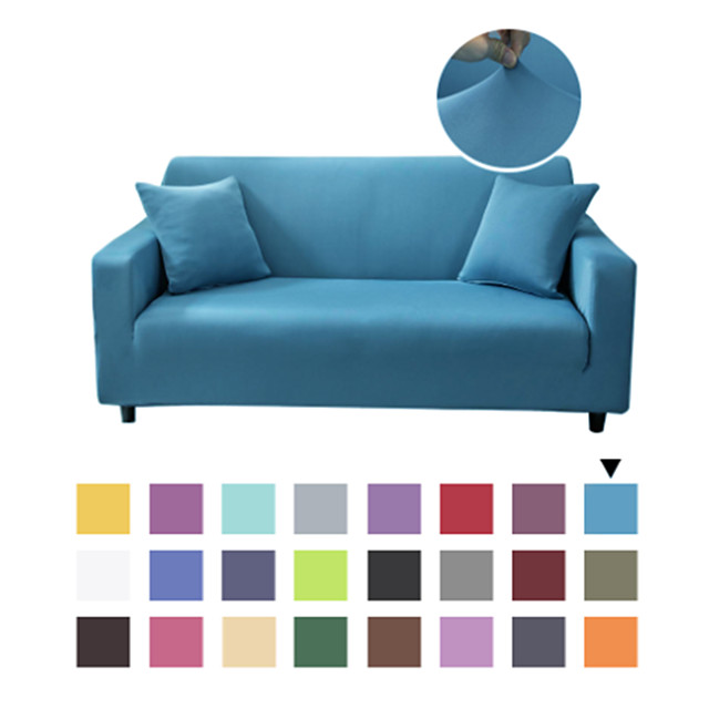 Stretch Slipcover Sectional Sofa Cover Solid Color Washable Furniture Protector for Kids, Pets Fit for Armchair/Loveseat/3 Seater/4 Seater/L Shape Sofa