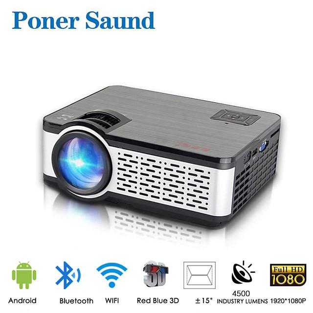 poner saund w5 wifi проектор мини портативный проектор умный дом 1080p full hd проектор android встроенный bluetooth для смартфона
