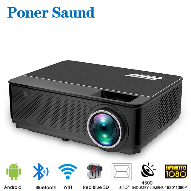 poner saund m6 wifi projector android 4k full hd led projector for smart mini portable projector bluetooth for movie smart home