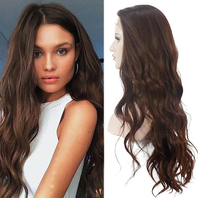 Lace Front Natural Wave Perücke für Frauen japanische hitzebeständige Stoff synthetische Haarersatz Perücken 26inch