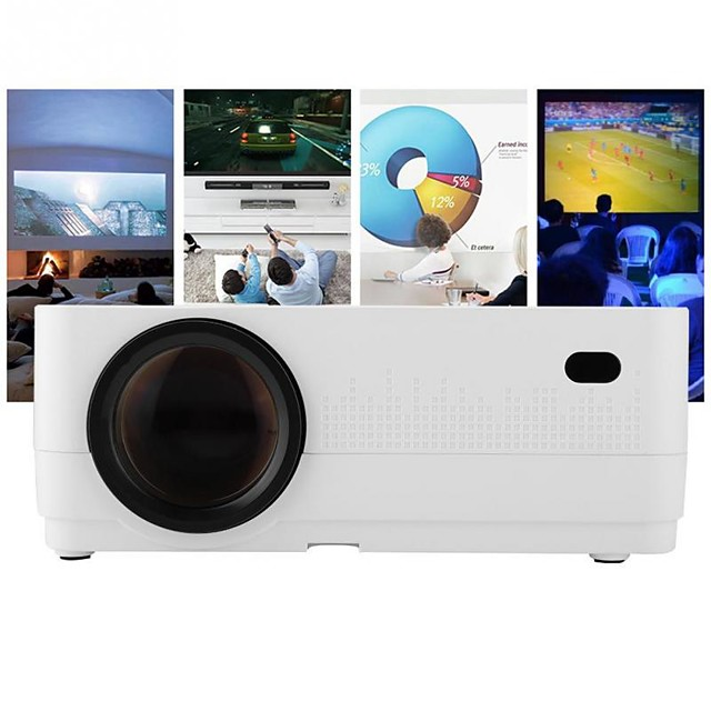 HQ4 Mini Projector LED Projector 2500 lm Android6.0 WIFI Projector