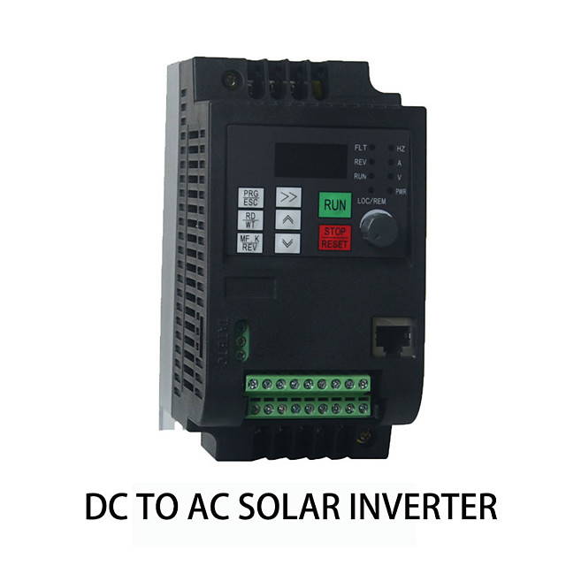 Photovoltaic power generation DC input 400-700V solar inverter 2.2kw3HP fan and water pump special output three-phase 380V built-in MPPT