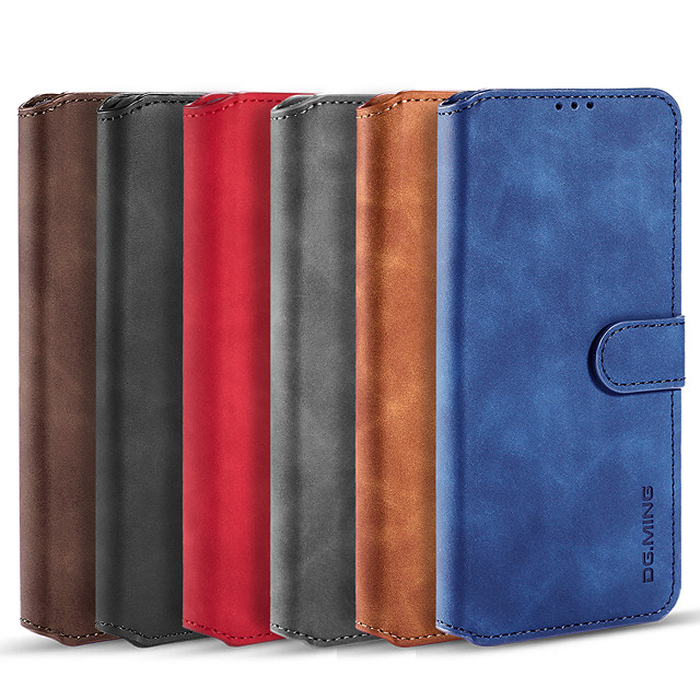 Phone Case For Samsung Galaxy Full Body Case Leather S21 S21 Plus S21 Ultra S20 S20 Plus S20 ultra S20 FE 5G Galaxy M21s Galaxy M31 Prime Note 20 Ultra Card Holder Shockproof Magnetic Solid Color PU