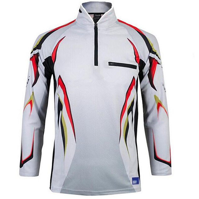 Men's Fishing Jacket Skin Coat Outdoor UPF50+ Quick Dry Lightweight Breathable Jacket Spring Summer Fishing Camping & Hiking Cycling / Bike Black / Red White Black / Blue / Long Sleeve / Stretchy
