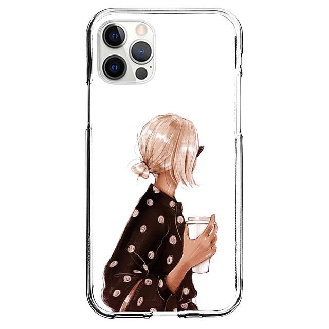 Kreatív Karakterek telefon Ügy Mert Apple iPhone 12 iPhone 11 iPhone 12 Pro Max Egyedi tervezés Védőtok Minta Fekete tok TPU