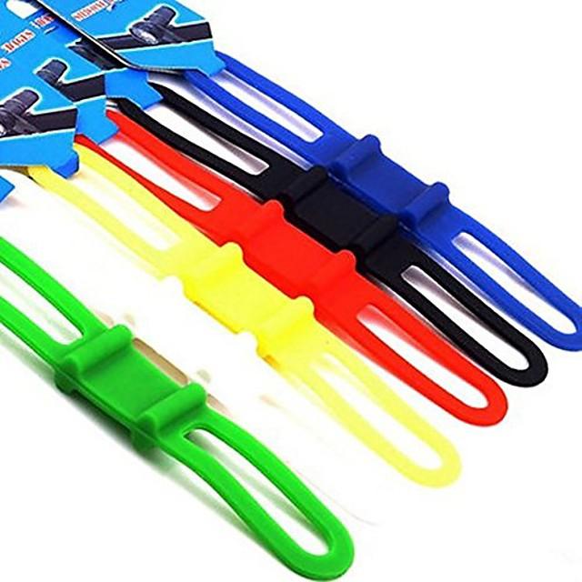 MTB Fahrrad Fahrrad Fahrrad Silikon Band Blitzlicht Taschenlampe Telefonriemen Krawatte Band Halterung Halterung (6er Pack)