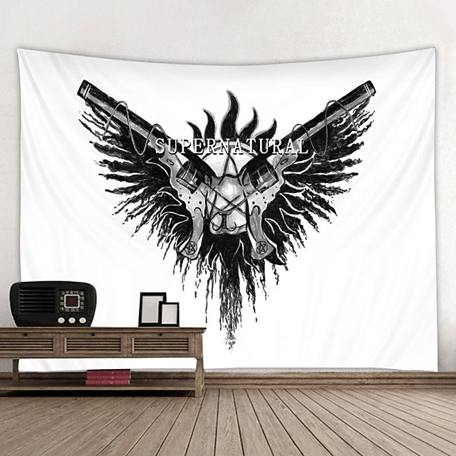 Wall Tapestry Art Decor Blanket Curtain Hanging Home Bedroom Living Room Decoration and Painting Style and Black and White
