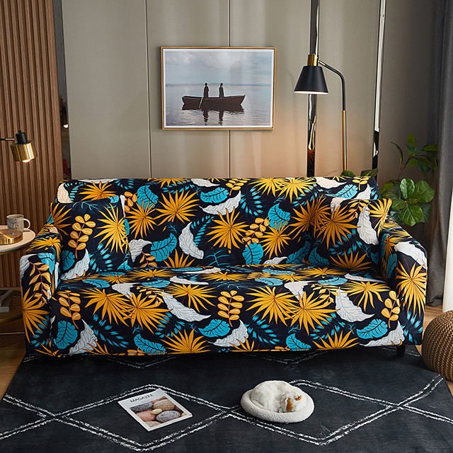 Slipcovers Stretch Sofa Cover Floral Print Couch Cover Dustproof Furniture Protector Super Soft Fabric Fit for Armchair/Loveseat/Three Seater/Four Seater/L shaped sofa