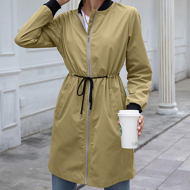 Women's Rain Poncho Hiking Raincoat Waterproof Hiking Jacket Autumn / Fall Spring Summer Outdoor Solid Color Waterproof Windproof Quick Dry Lightweight Hoodie Poncho Top Full Length Visible Zipper
