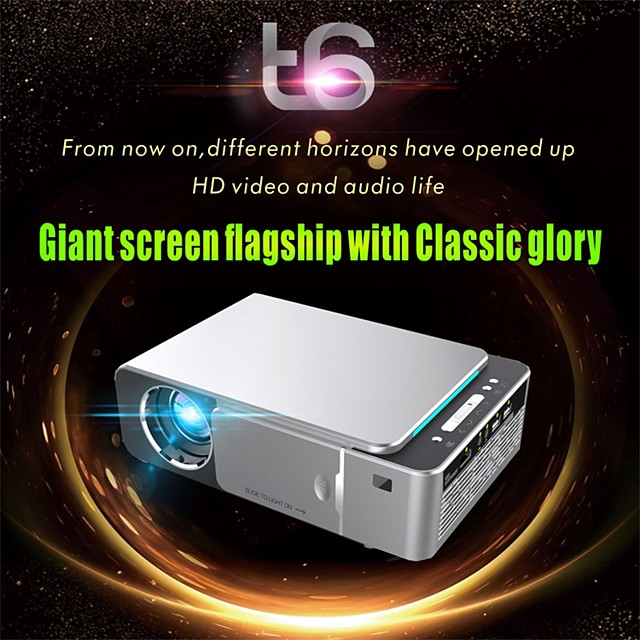 T6 Mini Projector LED Projector 2600 lm Android 7.1 WIFI Projector