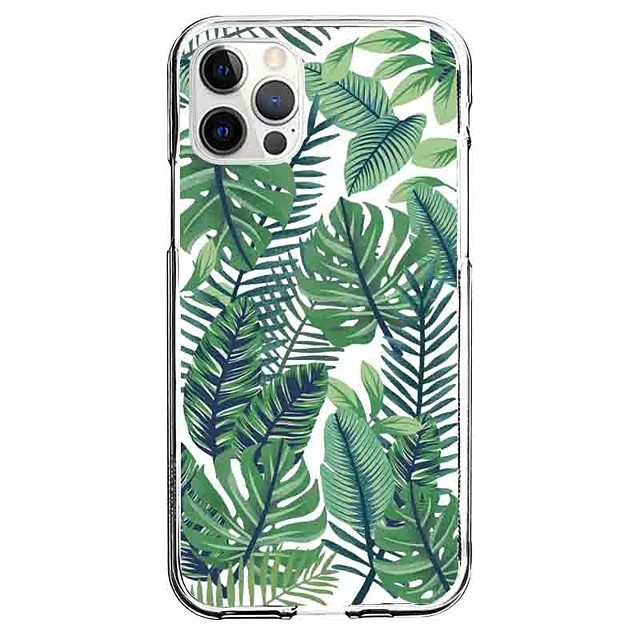 Scenery Leaf Case For Apple iPhone 12 iPhone 11 iPhone 12 Pro Max Unique Design Protective Case Pattern Back Cover TPU