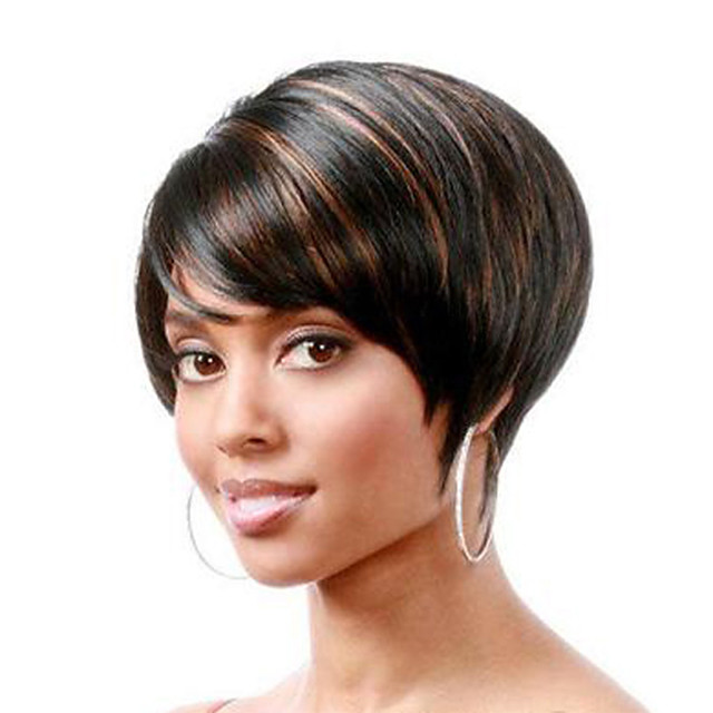 Synthetic Wig Natural Straight Short Bob Wig Short Black / Brown Synthetic Hair Women's Party Fashion Comfy Black Brown