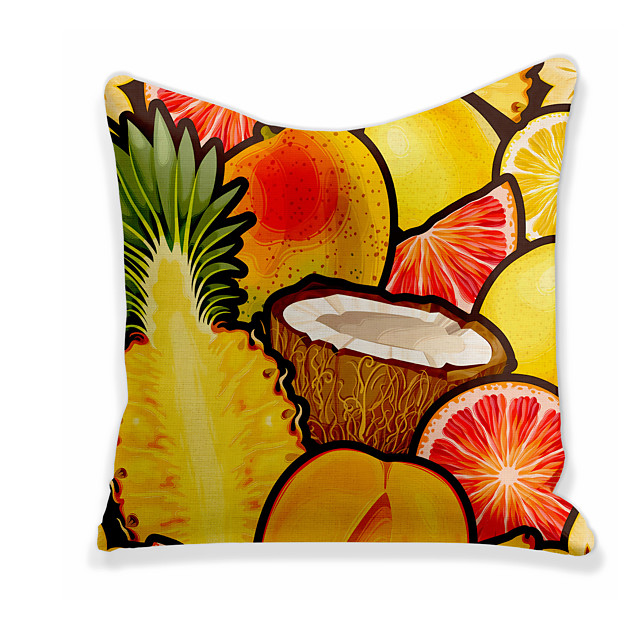 Cushion Cover 1PC Linen Soft Decorative Square Throw Pillow Cover Cushion Case Pillowcase for Sofa Bedroom 45 x 45 cm (18 x 18 Inch) Superior Quality Machine Washable