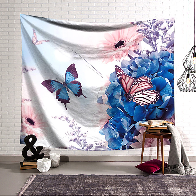 Wall Tapestry Art Decor Blanket Curtain Hanging Home Bedroom Living Room Decoration Polyester Butterfly