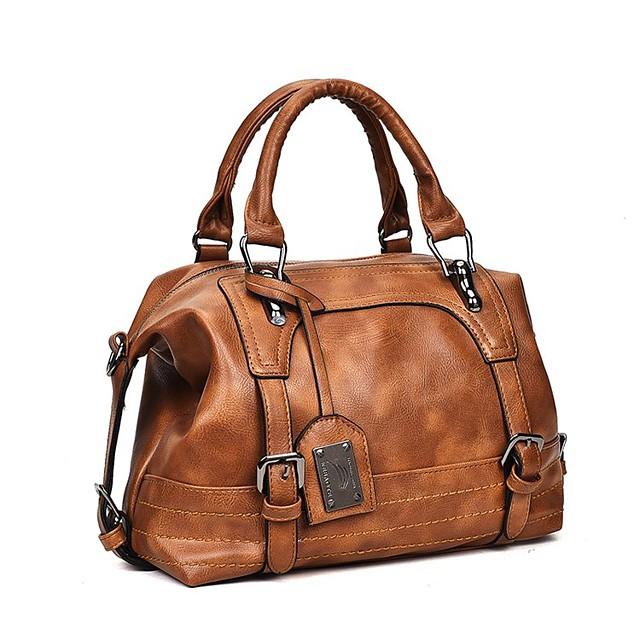 Women's Bags Top Handle Bag Date Office & Career 2021 Handbags Black Blushing Pink Brown Gray