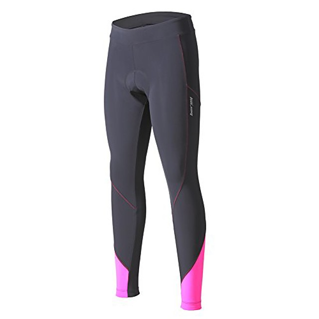women 5d padded cycling pants with adjust drawstring,ladies compression tights bike pants(xxxl grey)
