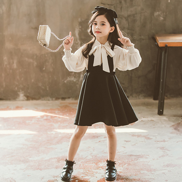 3 children 4 girls dress 5 spring and autumn dress 2021 new princess dress net red foreign atmosphere 6-year-old girl suit