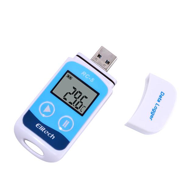 TTE35065 Mini Digital USB Temperature Data Logger Temp C/F Recorder for Warehouse StorageCold Storage and Laboratory