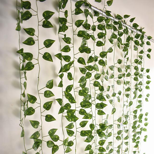 12db 220cm mesterséges növények szőlő fali dekoráció esküvői party dekoratív műlevelek növényzet mesterséges függesztett növények esküvői fal dekorációhoz, party terem dekoráció