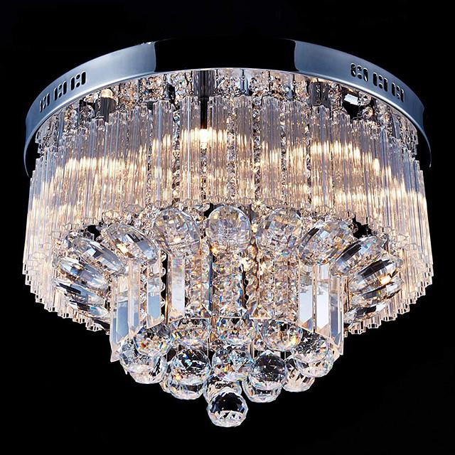 45cm Crystal Chandelier DIY Modernity Luxury Globe K9 Crystal Pendant Lighting Hotel Bedroom Dining Room Store Restaurant LED Pendant Lamp Indoor Crystal Chandeliers Lighting