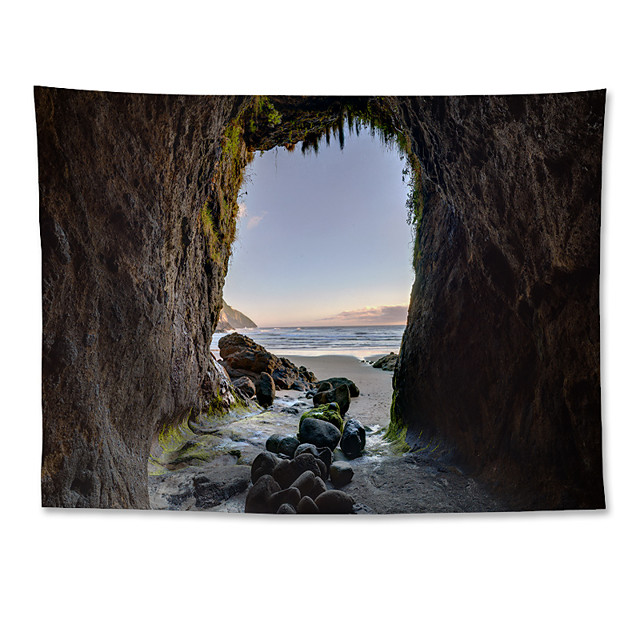 Wall Tapestry Art Decor Blanket Curtain Hanging Home Bedroom Living Room Polyester Beach Cave