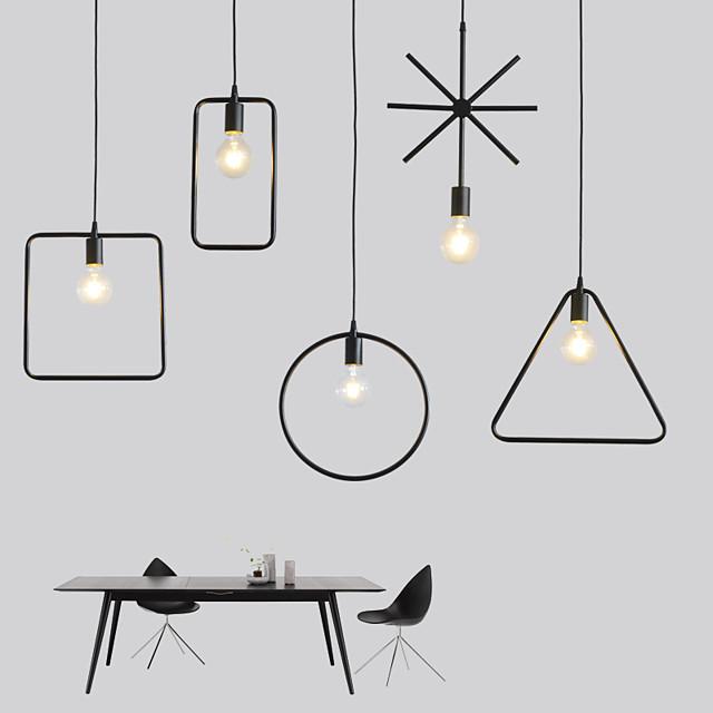 33 cm Maapallon suunnittelu Ympyrän suunnittelu Neliön muotoilu Riipus valot Metalli minimalistinen Maalatut maalit Taiteellinen Moderni 220-240V