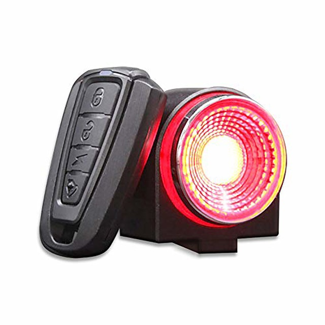 bike alarm tail light usb rechargeable ultra bright rear bike lights,smart brake sensing anti theft bicycle alarm with remote,ipx65 waterproof led taillights for bikes
