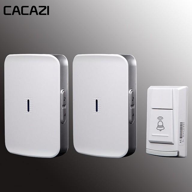 KONLEN W-906 Wireless One to Two Doorbell Music Non-visual doorbell / Waterproof Surface Mounted Doorbell