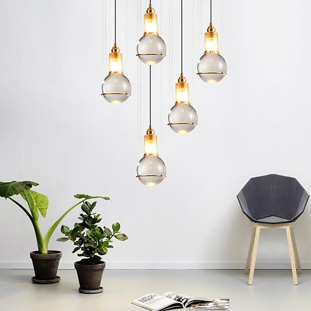 1pc 15 cm Single Design LED Pendant Light Crystal Nordic Modern Metal LED Bedside Lamp Dining Room 110-120V 220-240V