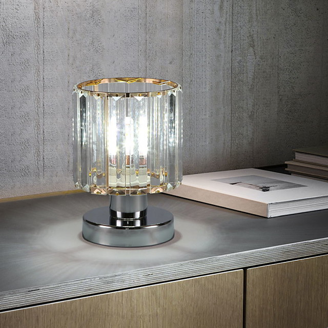 Crystal Table Lamp Ambient Lamps Modern Contemporary For Bedroom Study Room Office Metal 110-120V 220-240V