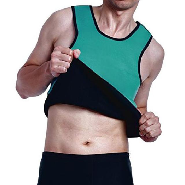 mens bantning svett väst heta neopren bastu skjorta kropp shapers för viktminskning