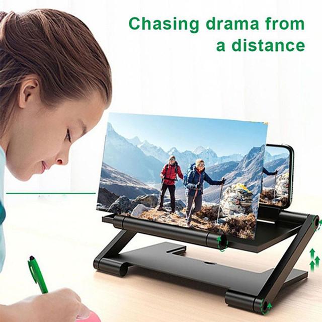מעמד לטלפון מיטה שולחן טלפון סלולרי מתקפל מעמד מתכוונן מעמד שולחן טלפון מגדלת מסך פוליקרבונט אביזר לשיחת טלפון iPhone 12 11 Pro Xs Xs Max Xr X 8 Samsung Glaxy S21 S20 Note20