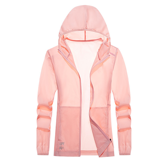 Women's UPF 50+ Clothing UV Sun Protection Lightweight Jacket Zip Up Hoodie Jacket Windbreaker Cooling Sun Shirt with Pockets Quick Dry Packable Coat Top Hiking Fishing Outdoor Performance