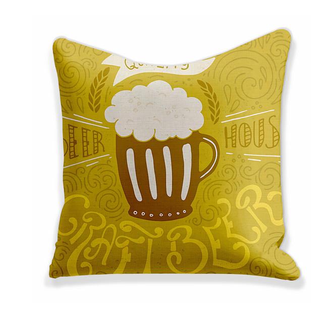 Husă de pernă 1 buc lenjerie moale decorativă pătrată acoperă pernă Husă de pernă pernă pentru canapea dormitor 45 x 45 cm (18 x 18 inch) calitate superioară lavabilă