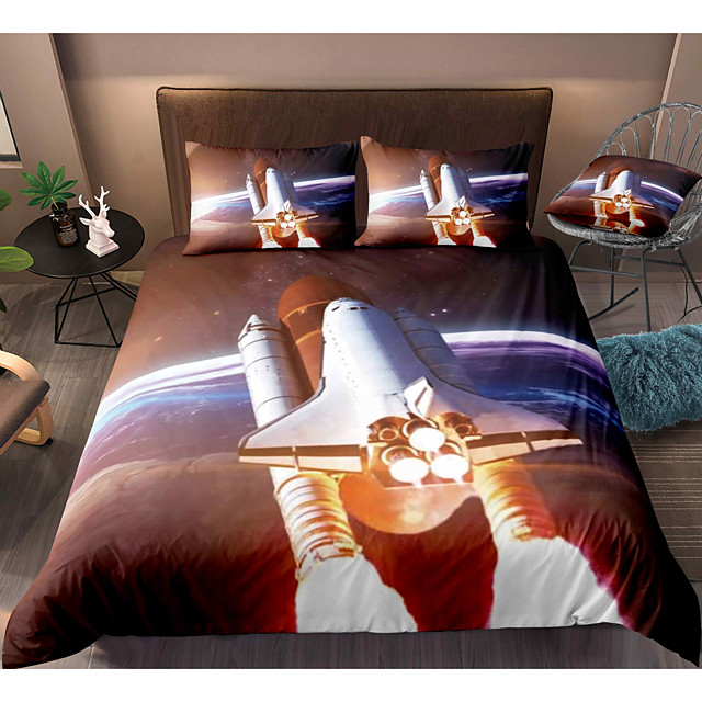 3-Piece Duvet Cover Set Hotel Bedding Sets Comforter Cover with Soft Lightweight Microfiber, Include 1 Duvet Cover, 2 Pillowcases for Double/Queen/King(1 Pillowcase for Twin/Single)