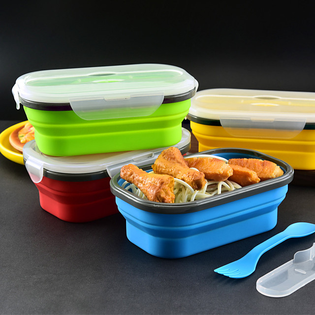 Collapsible Bento Box Silicone CDIY Containers Food Box Lunch Storage Food