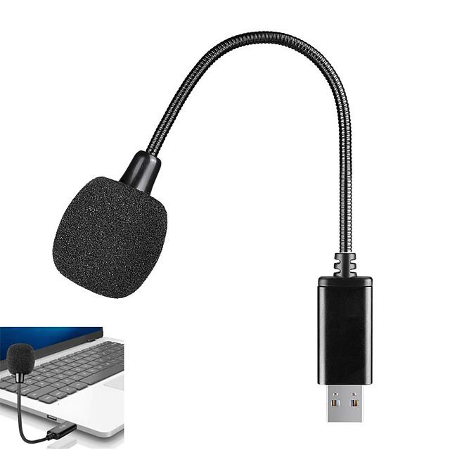 mini-usb-mikrofon för bärbar och stationär dator, med svanhals& universellt USB-ljudkort, kompatibelt med pc och mac, plugg& play, perfekt kondensatormikrofon för fjärrarbete, online-klass,