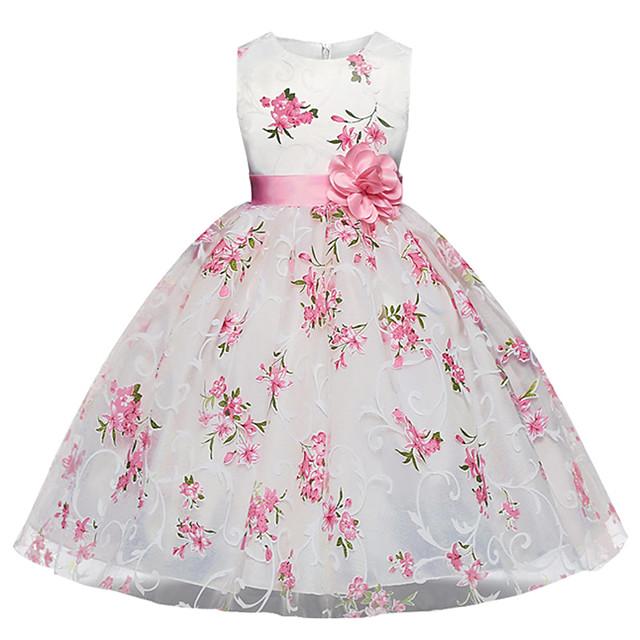 Kids Girl's Dresses for Girls, Sleeveless, Special Occasion Dresses White 5-6 Years