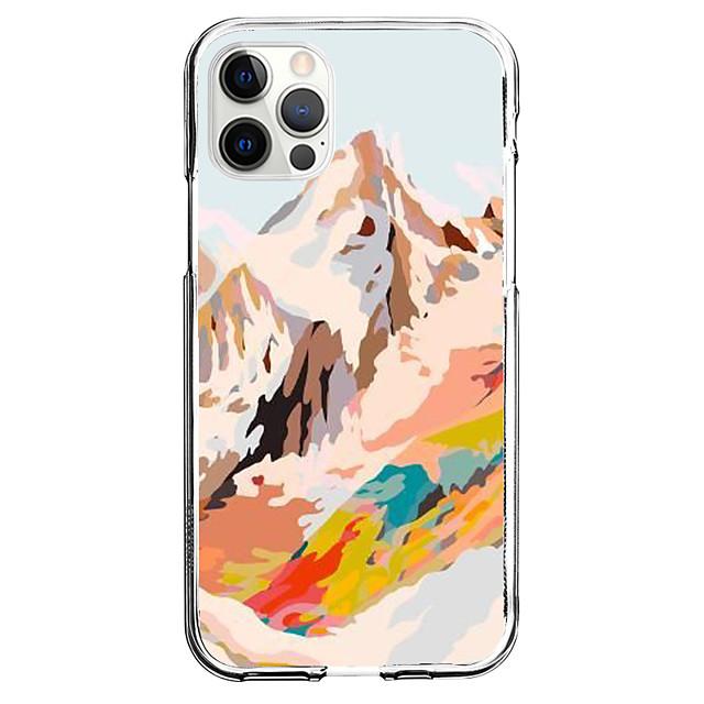 Creativo Paesaggi telefono Astuccio Per Apple iPhone 12 iPhone 11 iPhone 12 Pro Max Design unico Custodia protettiva Fantasia / disegno Per retro TPU