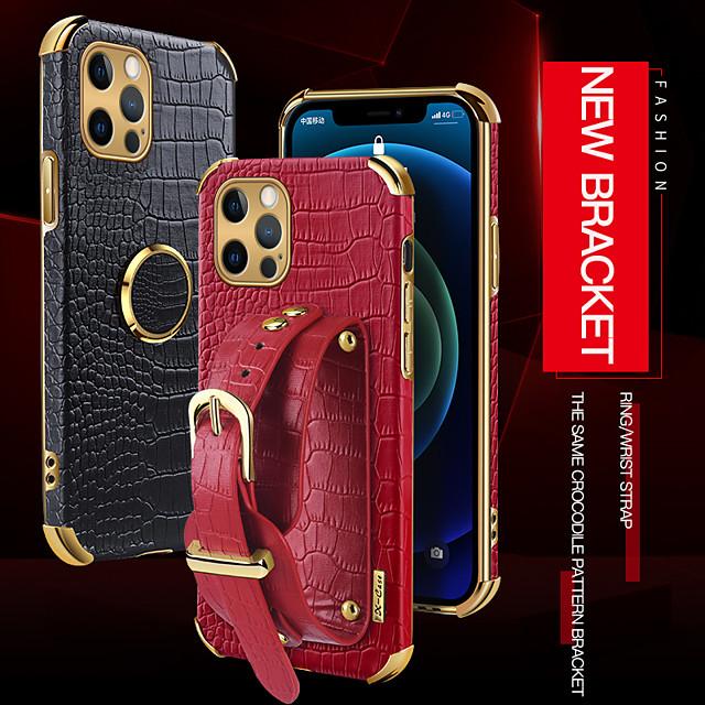 telefon Θήκη Za Apple Stražnja maska Kožna futrola iPhone 12 Pro Max 11 SE 2020 X XR XS Max 8 7 Otporno na trešnju Protiv prašine Jedna barva PU koža TPU