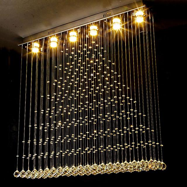 100cm Crystal Chandelier DIY Modernity Luxury Globe K9 Crystal Pendant Lighting Hotel Bedroom Dining Room Store Restaurant LED Pendant Lamp Indoor Crystal Chandeliers Lighting