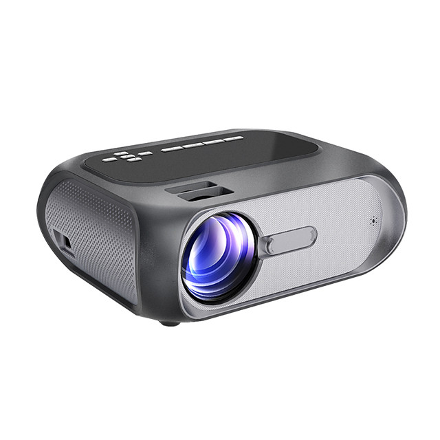 HD 1080P Projector Native 1280x720P Wi-Fi Mini Projector 150 ANSI Lumen Brightness Portable Outdoor Movie Projector Wireless Mirroring by WiFi/USB Cable for Android/Laptops/Windows