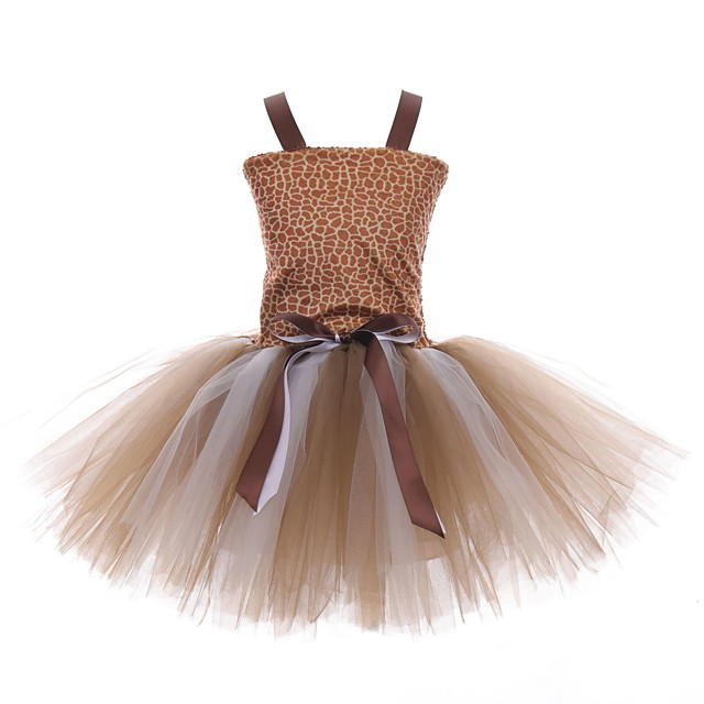 children's cosplay giraffe dress handmade tutu skirt girls fantasy forest photography dance performance skirt