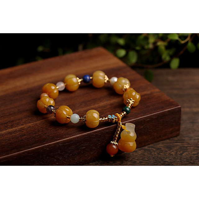 Women's Bead Bracelet Beads Fashion Unique Design Fashion Stone Bracelet Jewelry khaki For Gift
