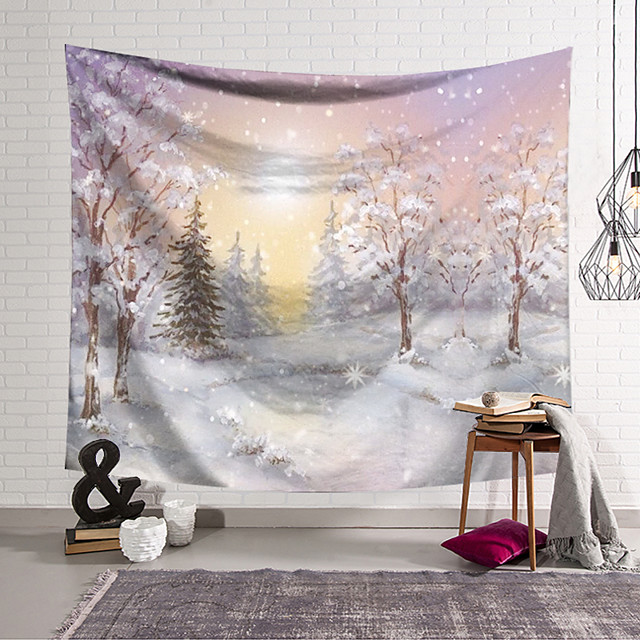 Wall Tapestry Art Decor Blanket Curtain Hanging Home Bedroom Living Room Decoration and Modern and Landscape