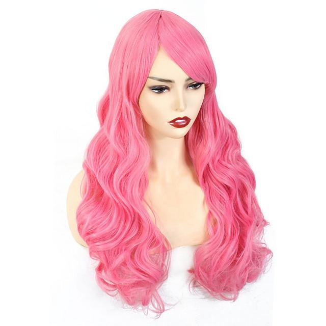 Long Wave Synthetic Wigs for Women Cosplay wig Blonde Blue Pink Grey Purple Gren Orange Black Brown Hair for Halloween Wigs