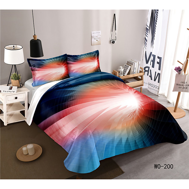 3-Piece Duvet Cover Set Hotel Bedding Sets Comforter Cover with Soft Lightweight Microfiber, Include 1 Duvet Cover, 2 shams for Double/Queen/King(1 sham for Twin/Single)