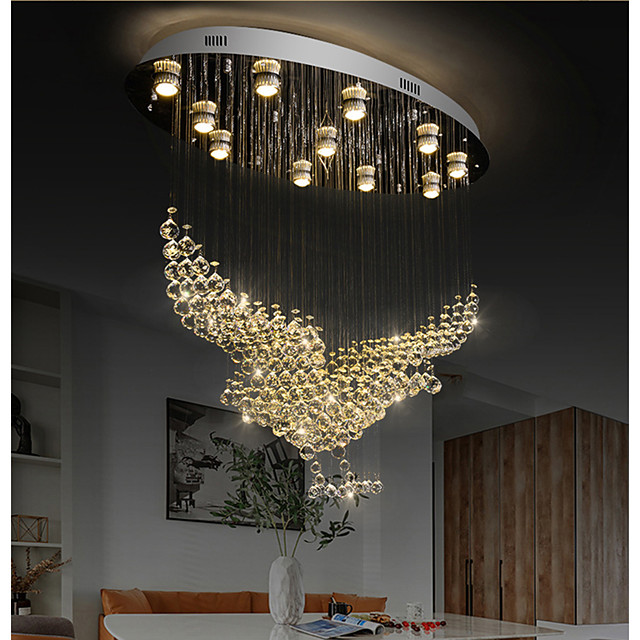 80cm Atmosphere Eagle Crystal Chandelier Villa Hall Crystal Chandeliers Hotel Modern Ceiling Light Personality Living Room Crystal Pendant Light