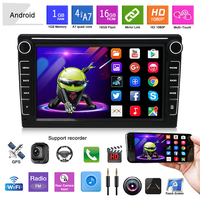 K808 8 inch 2 DIN Android 5.0 Car GPS Navigator Touch Screen / Radio / FM Transmitter for universal Other Support MP4 JPEG