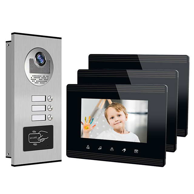 XINSILU XSL-V70W-B Wired 7 inch Hands-free 800*480 Pixel One to Three video doorphone